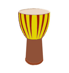 Isolated conga drum vector