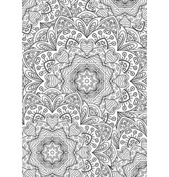 Leaf coloring book mandala zentangl pattern vector