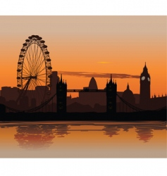 London at sunset vector image vector image