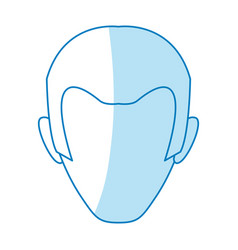 Male profile faceless vector