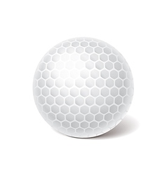 object golf ball vector image vector image