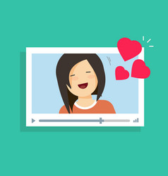 Online video communication with girlfriend vector
