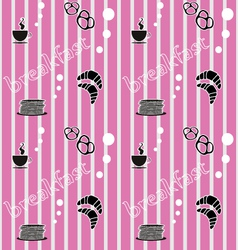 Pattern breakfast vector image