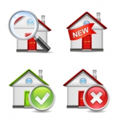 real estate icons set 1 vector image vector image
