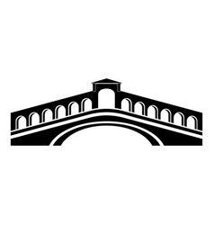 rialto bridge icon simple black style vector image