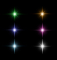Set of star burst vector