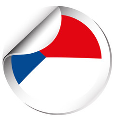 Sticker design for chile flag vector