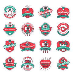 Wedding fashion badges vector