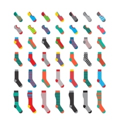 Set colorful socks vector