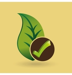 Concept ecological icon nature plant vector
