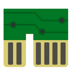 computer chipset icon isolated vector image