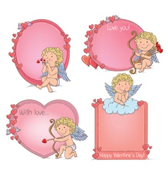 Vignettes Valentines Day vector image