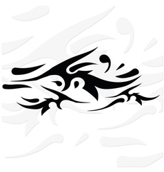 Silhouette of tattoo vector