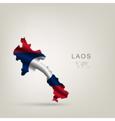 Flag of laos as a country vector