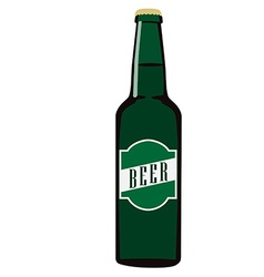 Beer bottle with label vector