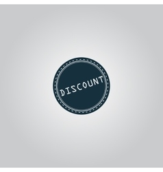 Discount icon badge label or sticker vector