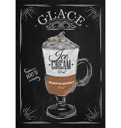 Poster glace chalk vector image