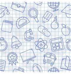 School Symbols Seamless Pattern vector image