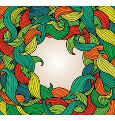 Background with frame of colorful twirls vector image