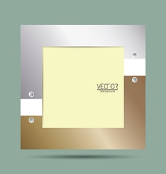 Picture frame with metallic border vector