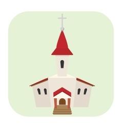 Church cartoon icon vector image