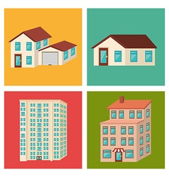 Urban buildings graphic vector