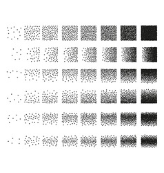 Set 48 hearts stipple pattern for design tile vector