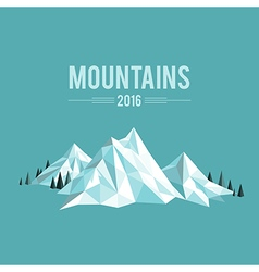 Mountains snow vector image