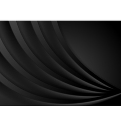 Abstract smooth black wavy corporate background vector