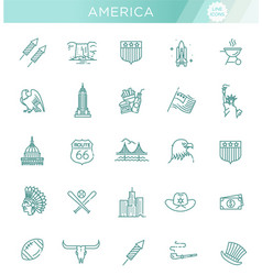 american culture icons culture signs of the usa vector image vector image
