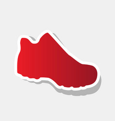 boot sign new year reddish icon with vector image
