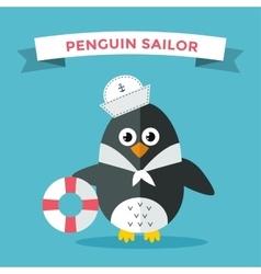 Cartoon penguin character vector image vector image