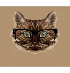 Cat portrait vector