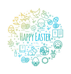 celebration easter signs happy easter vector image vector image