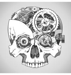Clockwork skull vector