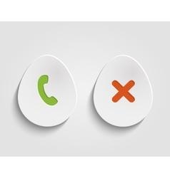 Egg button vector