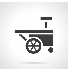 Festival trolley glyph style icon vector image
