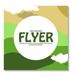 Flyers with the image of rocky terrain and forests vector image