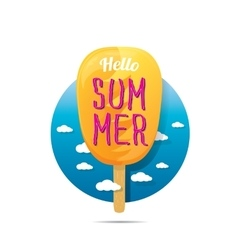 Hello summer creative concept icon vector image