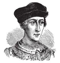 Henry v of england vintage vector