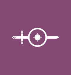 Icon sword and shield vector