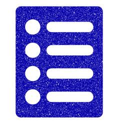 list icon grunge watermark vector image vector image