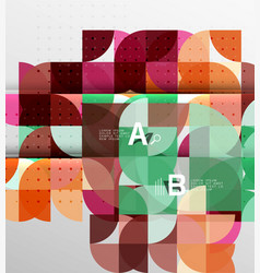 Minimalistic circle geometric abstract background vector