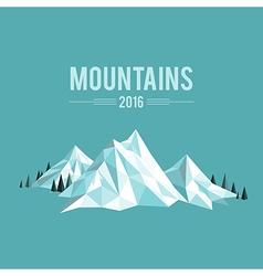 Mountains snow vector