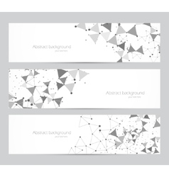 Polygonal banners vector image vector image