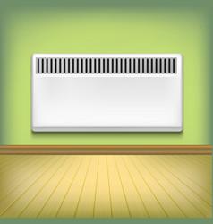 realistic detailed 3d metal heating radiator vector image vector image