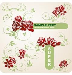 Romantic super floral set vector