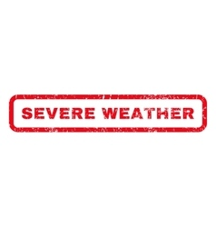 Severe weather rubber stamp vector