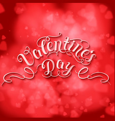 Valentines day card elegant red vector