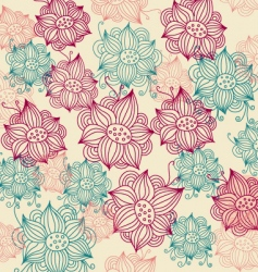 vintage flower background vector image